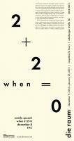 2012 0012 camila sposati: <em>when 2+2=0</em>, poster