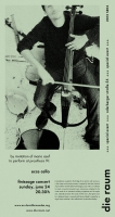 2012 SE03 ecce cello, poster