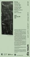 die raum 2021 0047: åse eg: <br/><em>drei bis fünf überlegungen und eine reihe beobachtungen bezüglich der fließenden grenze zwischen kultur und natur</em>